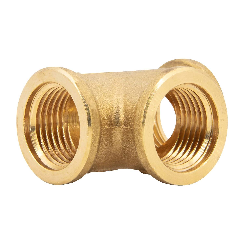 accesorio 2x rosca hembra 1x rosca macho conector HHM 1 1//2 Pieza T de lat/ón racor T derivaci/ón