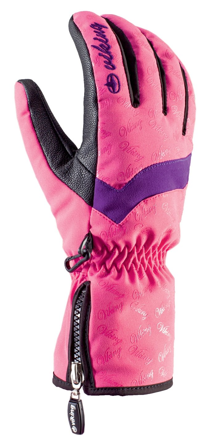 viking Handschuhe Winter Skihandschuhe Damen HYPERLOFT Gewebe sehr warm echtes Leder atmungsaktiv und wasserdicht Jowita