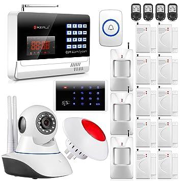 Amazon.com: KERUI N6120G Wireless GSM Home/Business Security ...