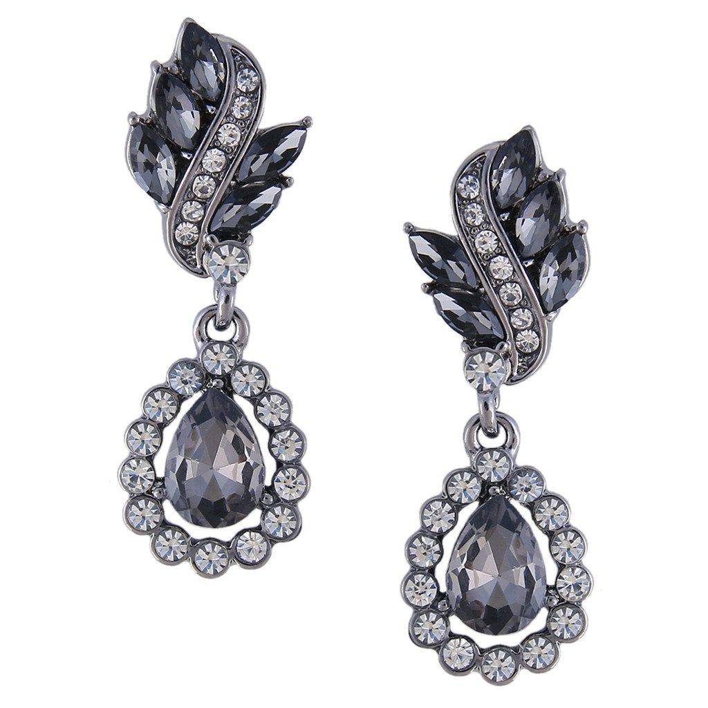 Clearine Women S Bohemian Boho Fashion Crystal Cer Fl Chandelier Dangle Earrings