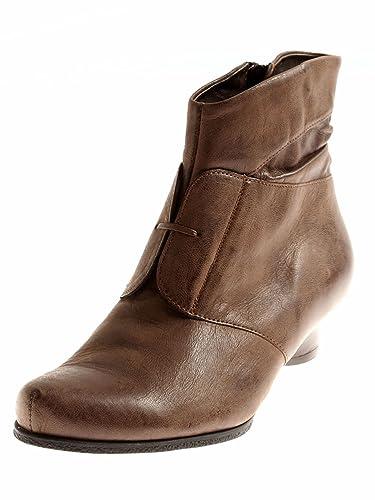 Stiefeletten, angedeutete Schnürung, gefüttert   Schuhe