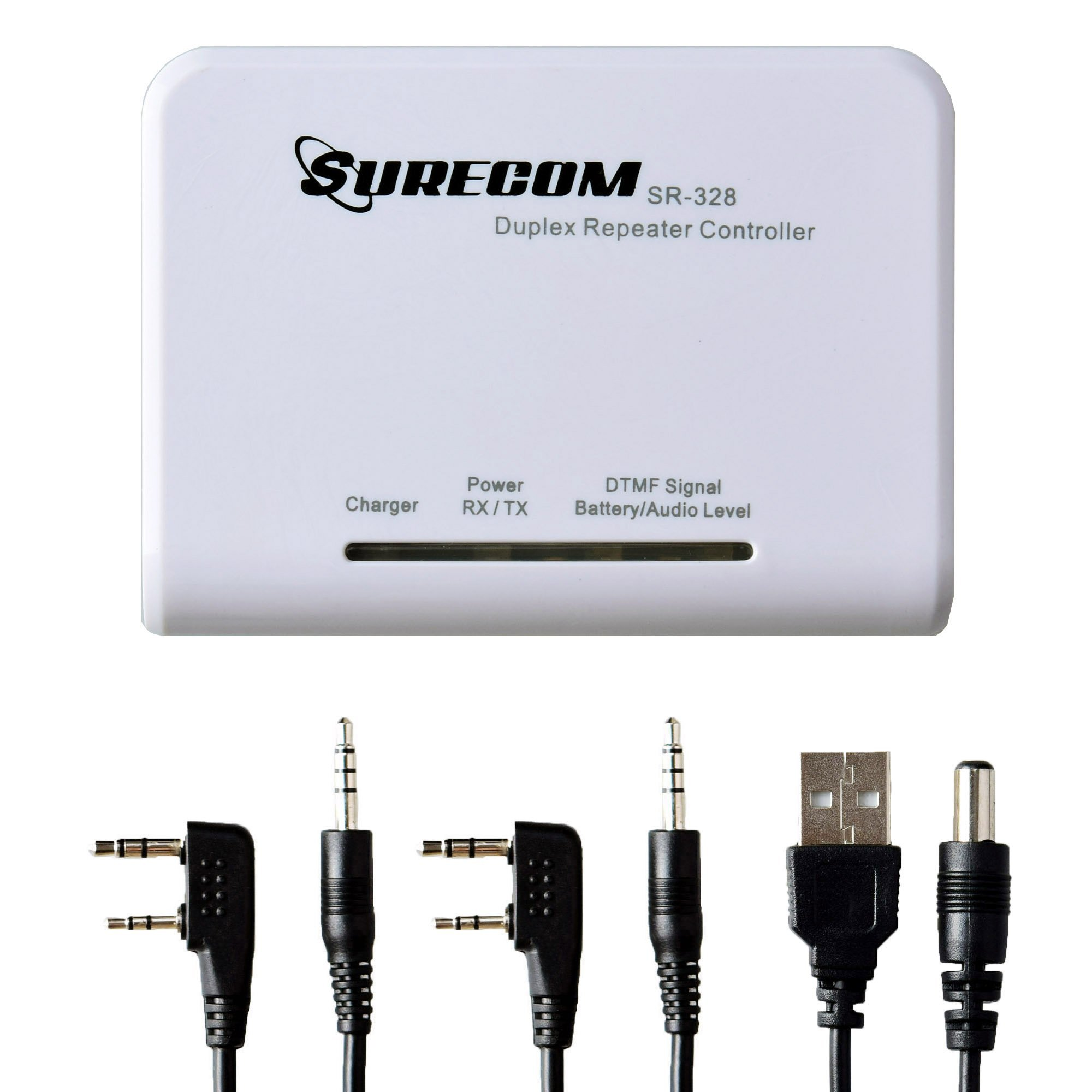 Gam3Gear Surecom SR-328 Cross Band Radio Duplex Repeater Controller with 2 pcs K Plug Cable for Kenwood BaoFeng BF-888S WouXun BAOJIE HYT Linton