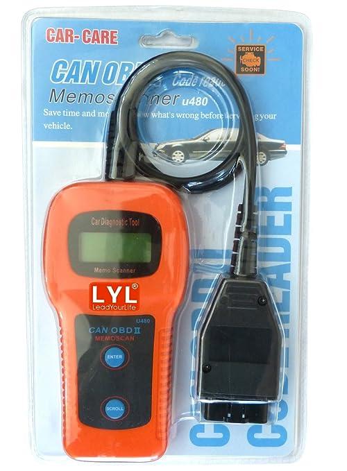 Amazon Com Lyl U480 Car Auto Diagnostic Scanner Obd2 Obdii Can Bus