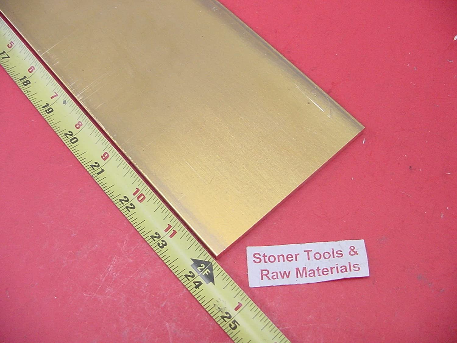 "1//2/"" x 2/"" C360 BRASS FLAT BAR 20/"" long Solid .500/"" Plate Mill Stock H02"