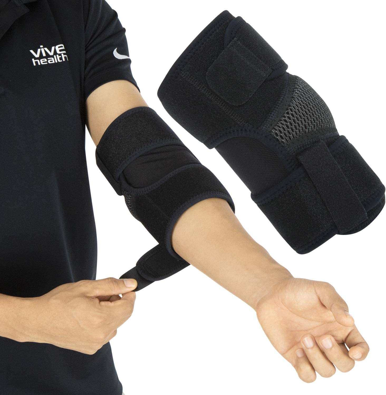 Vive Elbow Brace - Tennis Compression Sleeve - Wrap for Golfers, Bursitis, Left or Right Arm - Tendonitis Support Strap for Golf, Men and Women - Epicondylitis and Sports Recovery Pain Relief: Industrial & Scientific