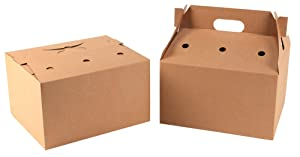 """Southern Champion Tray 2760 Kraft Corrugated Catering Barn with Top Handle, 13"""" x 10-5/8"""" x 13-1/4"""" (Case of 36)"""
