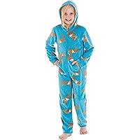 SaneShoppe Mono de forro polar con capucha para niñas con estampado de oveja