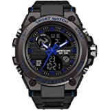 RORIOS Relojes Deportivos para Hombre Resistente al Agua Digital Militares Relojes Multifuncional Militar Reloj para…