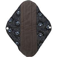 GLOGLOW Cojín Menstrual Lavable, Reutilizable Panty Liners para Mujeres Paño higiénico de Tela de bambú Servilleta Exterior (L)