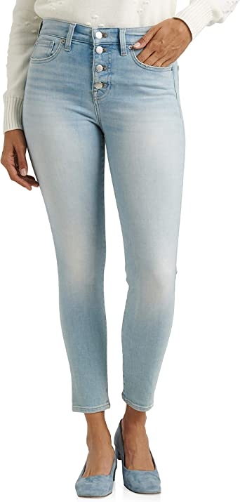 Lucky Brand Womens Ava Ripped Skinny Fit Jeans