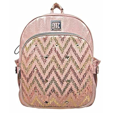 1dd45e19ba1d Amazon.com  Miss Me Jeans Accessories Coral Pink Sequin Chevron Heather  Backpack HB255BP1  Shoes
