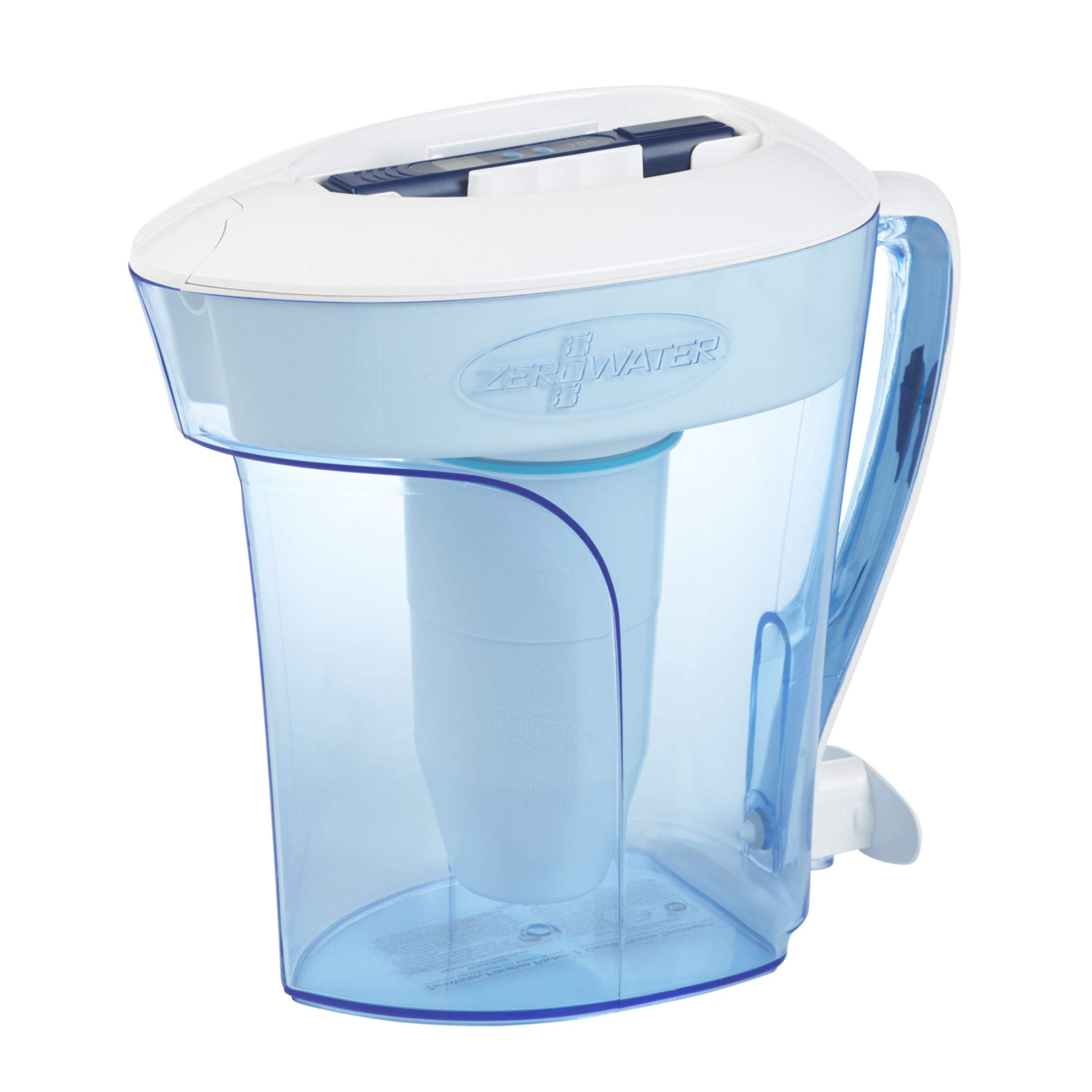 ZeroWater ZP-010, 10 Cup Water Filter Pitcher with Water Quality Meter by ZeroWater