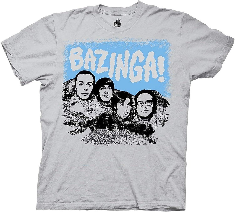 Big Bang Theory Bazinga Mount Rushmore Funny Adult Mens Unisex Grey T-Shirt: Amazon.es: Ropa y accesorios