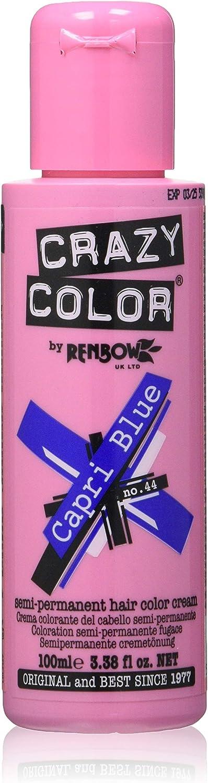 Crazy Color Capri Blue Nº 44 Crema Colorante del Cabello Semi-permanente