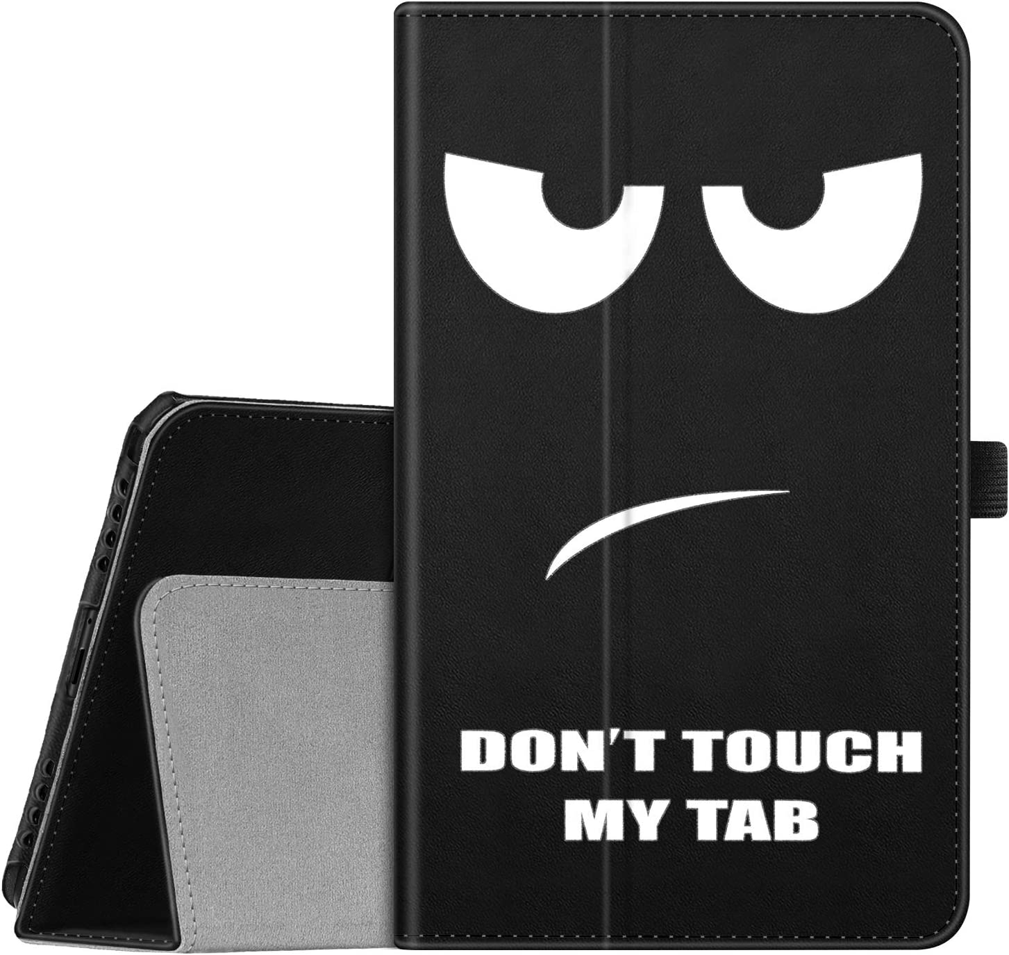 Fintie Folio Case for Samsung Galaxy Tab A 8.0 2019 Without S Pen Model (SM-T290 Wi-Fi, SM-T295 LTE), [Corner Protection] Slim Fit Premium Vegan Leather Stand Cover, Dont Touch