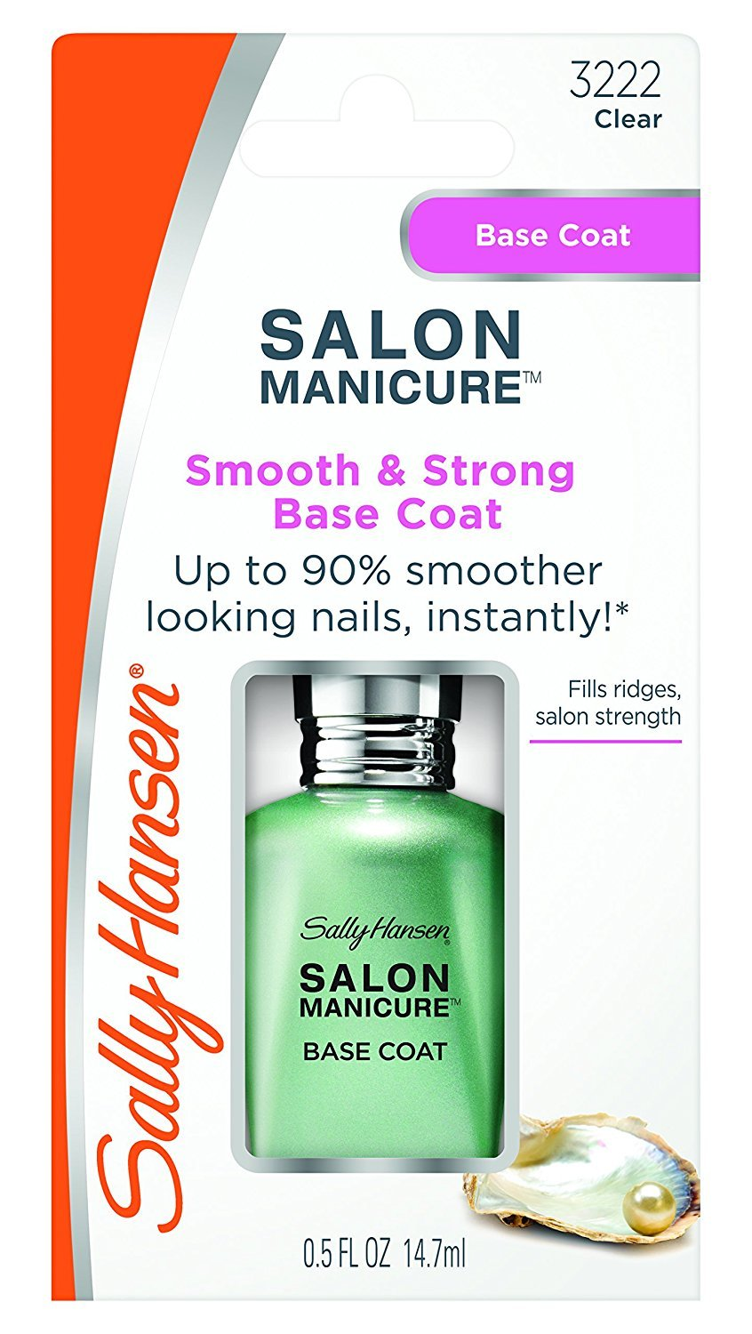 Sally Hansen Salon Manicure Smooth & Strong Base Coat Clear/transparente 30072861000