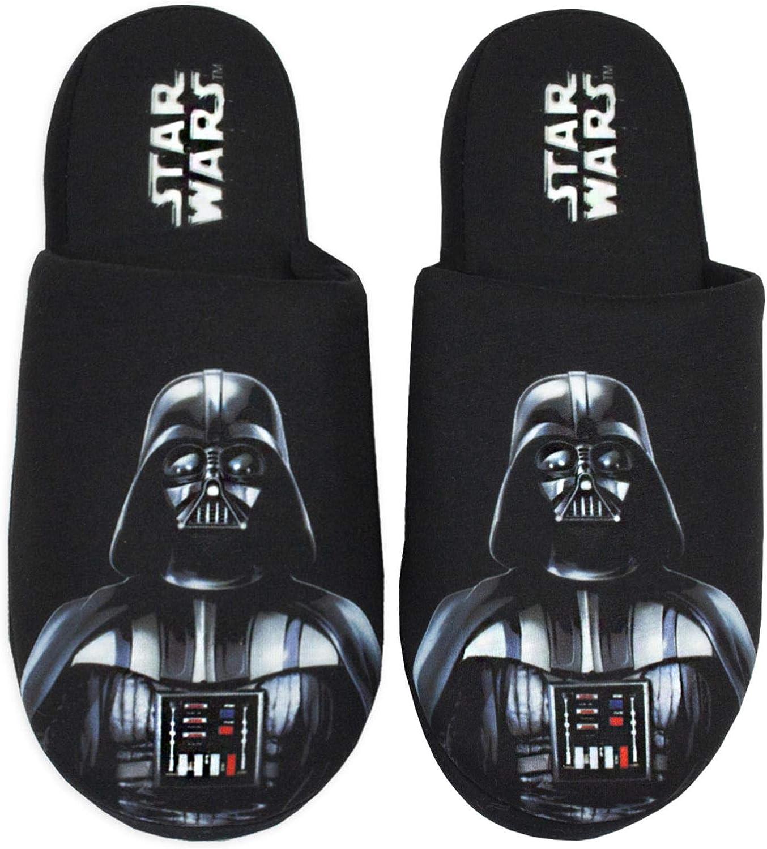 Rogue One Star Wars Darth Vader Mens Grey 100/% Polyester Slippers