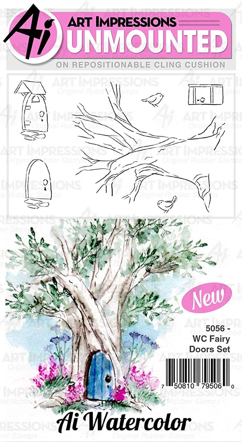 Art Impressions WC5067 Bible Journaling Watercolor Rubber Stamps-Gates of Righteousness