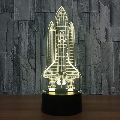 Couleur 3d Tactile Led Changement Illusion Lampe Fusée 7 Optique De DH2WIE9Y