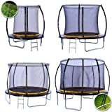 kanga 6ft / 8ft / 10ft / 12ft Premium Trampoline with Safety Enclosure, Net, Ladder and Anchor Kit