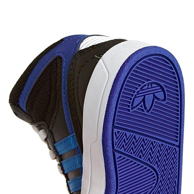 new products 1a790 4c1ac adidas Originals Court Attitude EI I Zapatillas Sneakers Cuero Negro Azul  para Ninos  Amazon.es  Zapatos y complementos