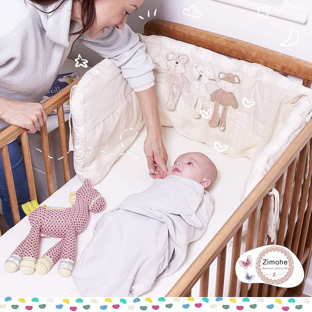 Para Bebes Recien Nacidos 0-2 meses, Azul 2x Saco de Dormir Manta de Arrullo Cobija 100/% Algod/ón Manta Envolvente para Beb/é y Recien Nacido