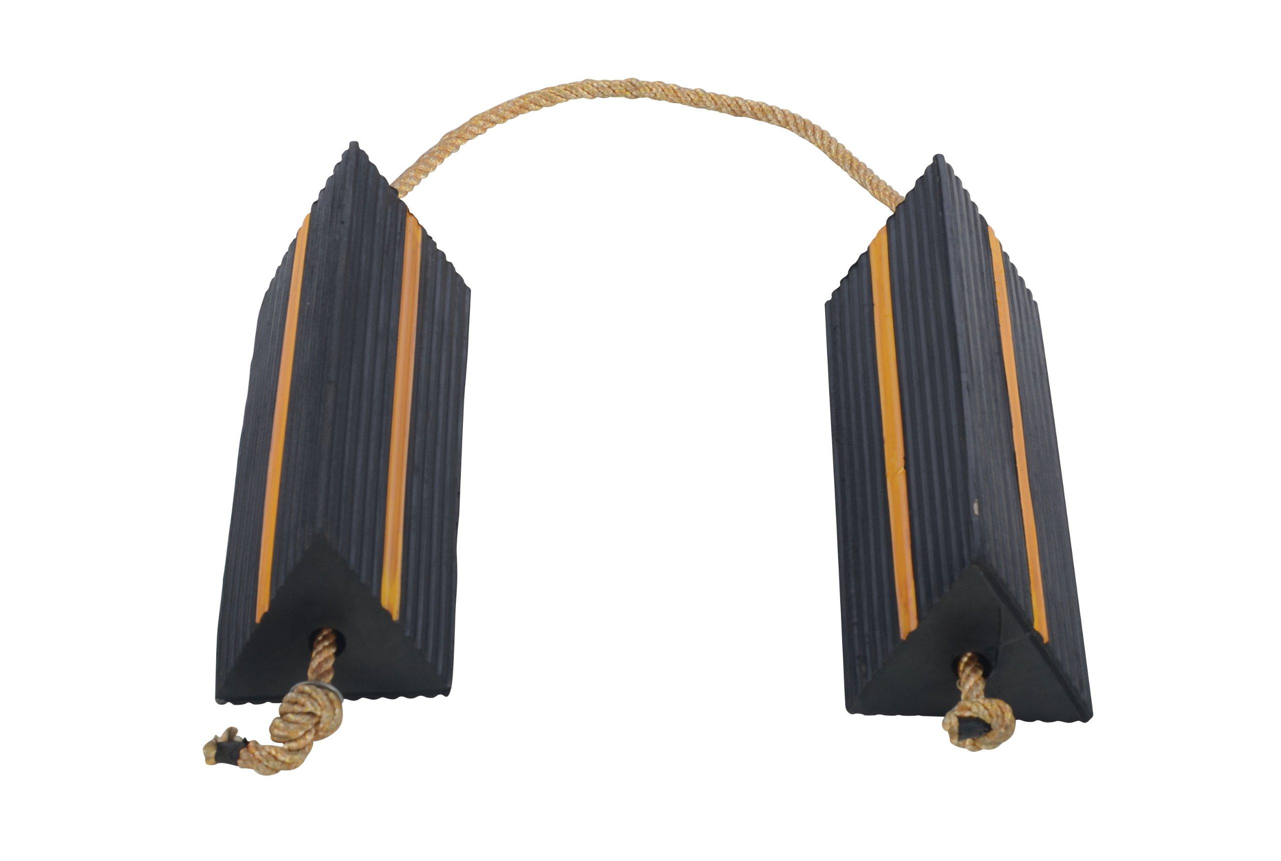 Vestil AC-18 Wheel Chock with Rope, 18'' Width x 5-1/2'' Height x 6'' Depth by Vestil (Image #4)