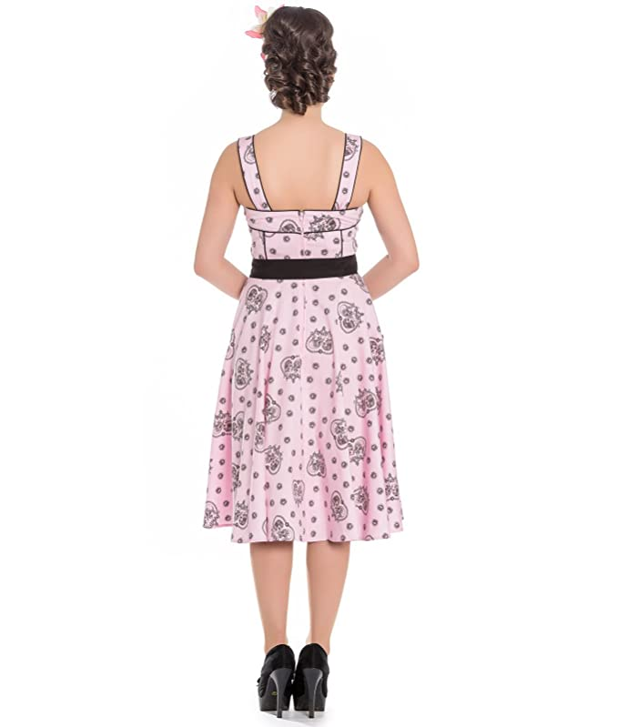Hell Bunny Keepsake Alchemy Skull 50s Style Pink Dress - UK 10 (S): Amazon.co.uk: Clothing
