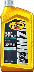 Pennzoil Ultra Platinum Full Synthetic 5W-30 Motor Oil (1 Quart, Case of 6)