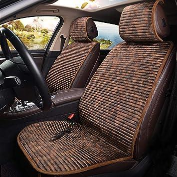 Seasaleshop Beheizbare Sitzauflage//Sitzheizung Warm Up schwarz//grau Doppelsteckdose f/ür 12V Zigarettenanz/ünder