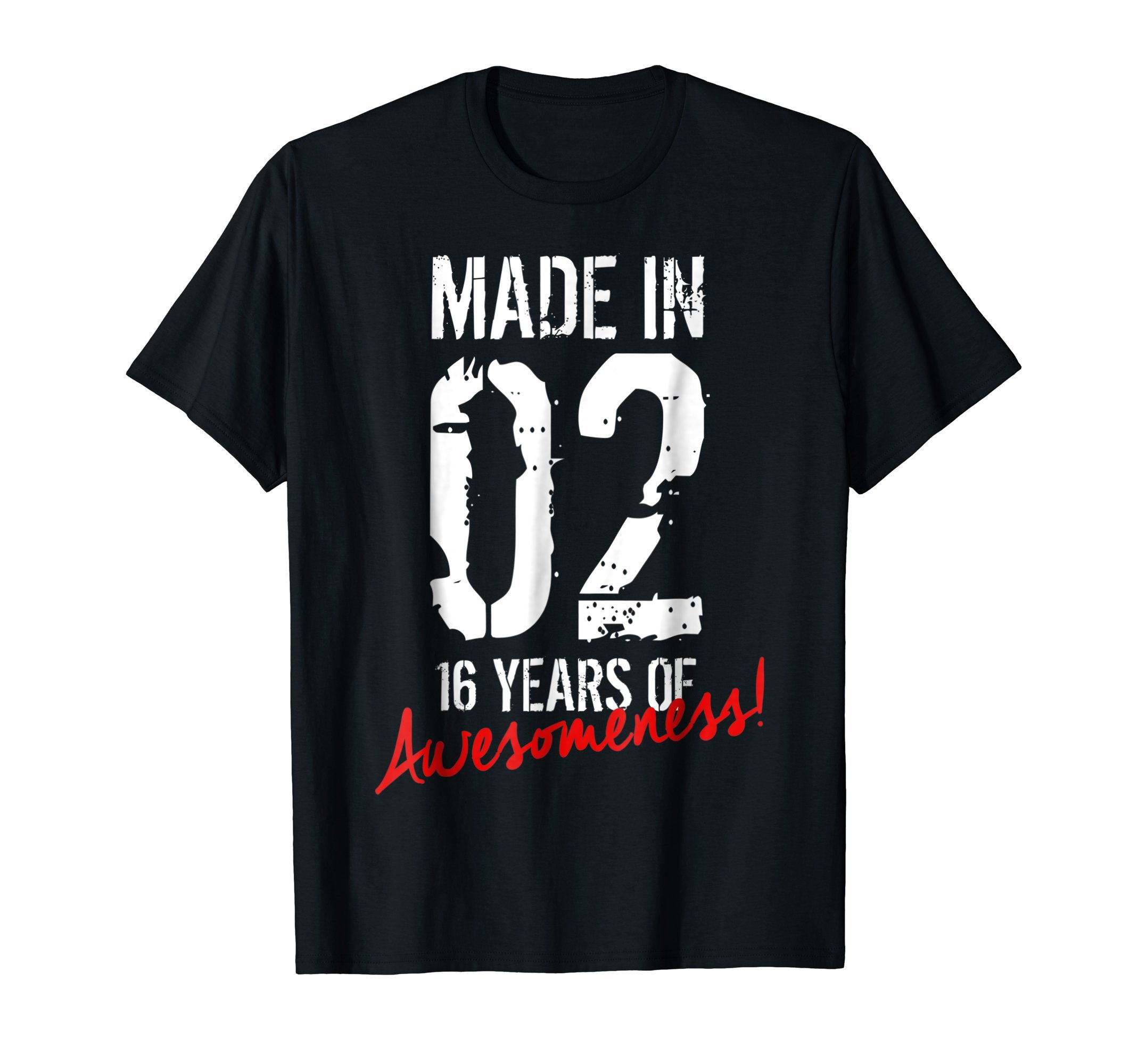 16 Year Old Birthday Gift Shirt Born in 2002 16th Birthday by Cool Birthday Shirts For Boys & Girls Co. (Image #1)