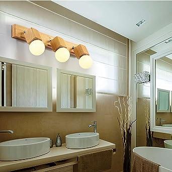 Miroir bois créatifs salon de style japonais simples Projecteurs ...