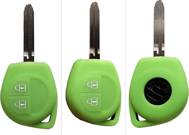 CK Suzuki Auto-Schl/üssel H/ülle Key Cover Case Etui Silikon f/ür Swift Alto Ignis Splash Baleno Schwarz