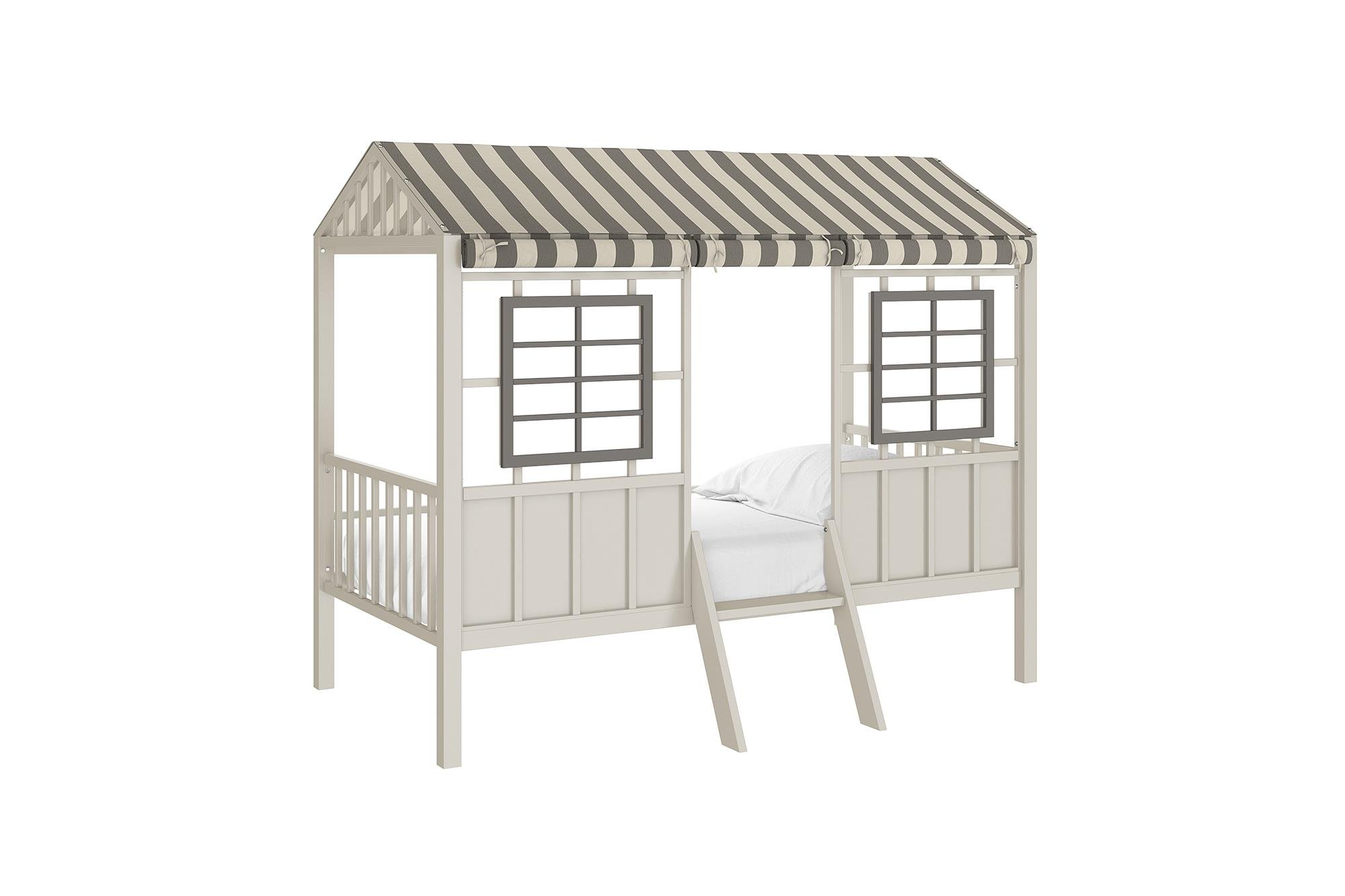 Little Seeds Rowan Valley Forest Loft Bed, Grey/Taupe, Twin by Little Seeds