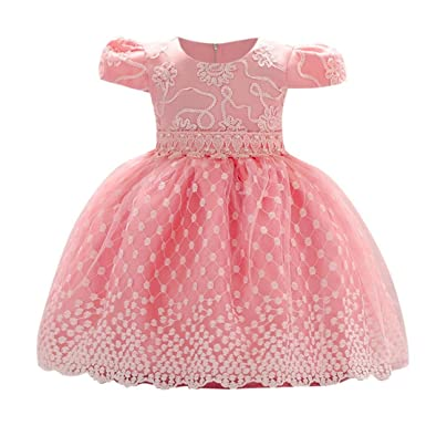 e3ad72b96606 Amazon.com  JPOQW Kid Girls Dress Toddler Girl Pearl Birthday ...