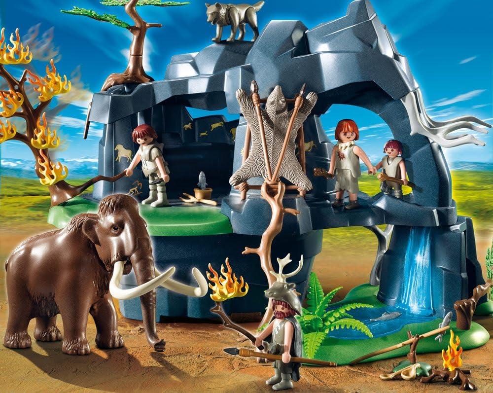 PLAYMOBIL 626677 - Edad Piedra Cueva con Mamuts: Amazon.es ...