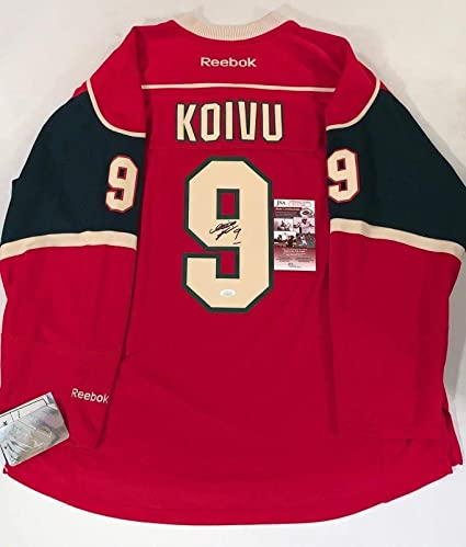 Image Unavailable. Image not available for. Color  Mikko Koivu Autographed  Jersey ... 267702ca7