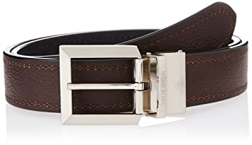 bd4fe4609b8 Image Unavailable. Image not available for. Colour  Hidesign Black and  Brown Leather Men s Belt ...