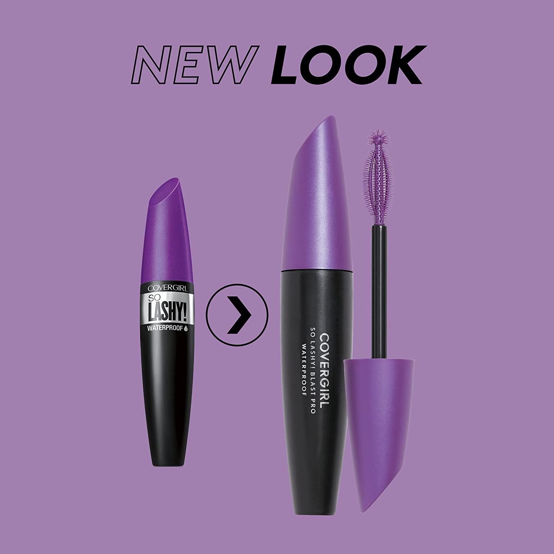 b132a04b883 Amazon.com : COVERGIRL So Lashy! blastPRO Waterproof Mascara Extreme Black  .44 fl oz (13.1 ml) (Packaging may vary) : Beauty