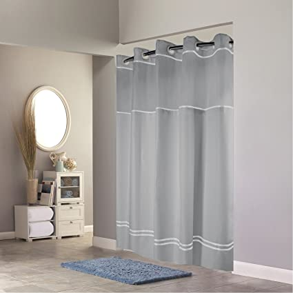 Amazon Hookless RBH40MY040 Monterey Shower Curtain With PEVA