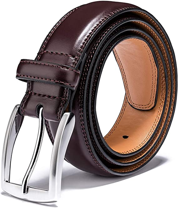 Classic and Fashion Design for Work Business and Casual Mens Genuine Leather Dress Belts Made with Premium Quality
