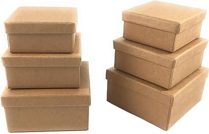 Manualidades Caja de cartón caja de regalo de cartón caja con tapa ...