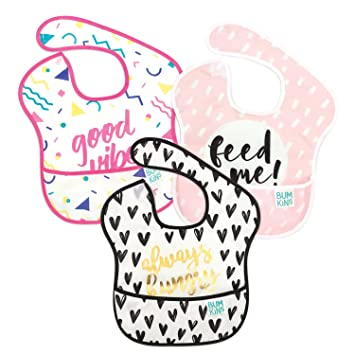 3 Pack Baby Girls Bibs Cotton Pretty Heart /& Flower Design Up to 6 Months Approx