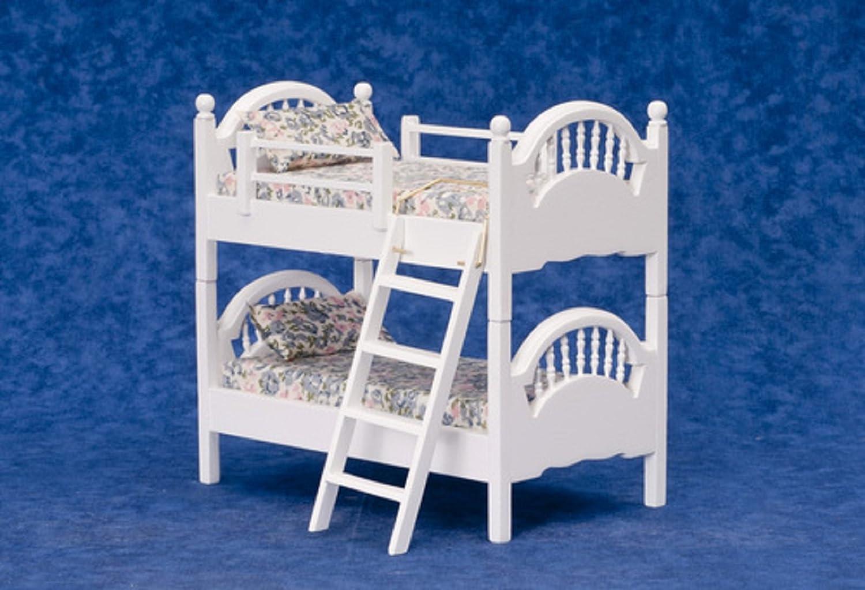 Etagenbett Für Puppenhaus : Puppenhaus miniatur schlafzimmermöbel weiß spindel etagenbett