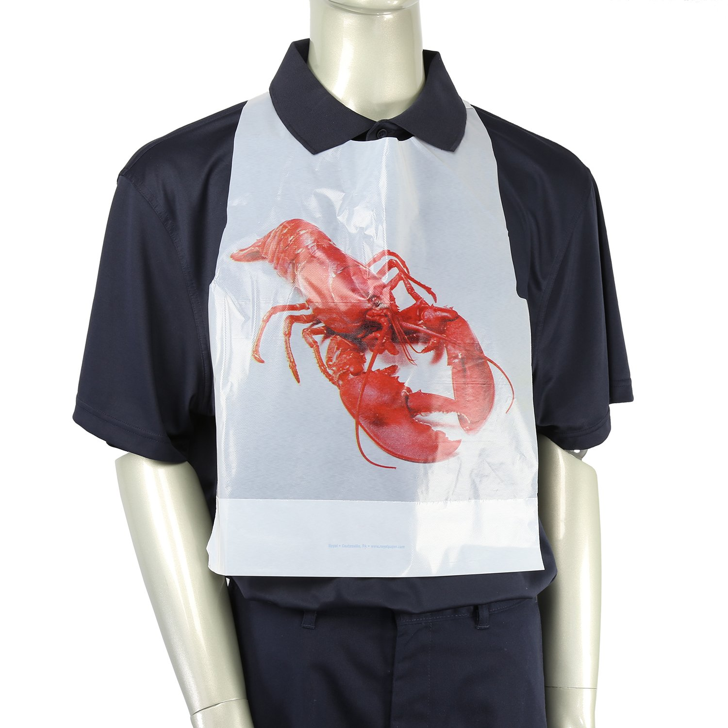 Royal Adult Poly Bibs with Lobster Design, Package of 500 by Royal