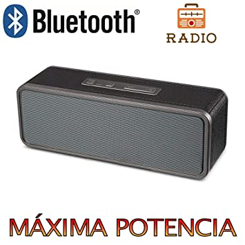 Altavoz Bluetooth, Unicview BY1040 con Radio Estéreo HD Altavoces ...