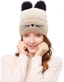 4144237a230292 Amazon.com : Hats for Women, Knit Beanie Skullies Cap Baggy Beret ...