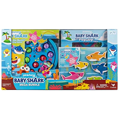 Cardinal Games Pinkfong Baby Shark Mega Bundle with Puzzles and Games for Kids: Electronics