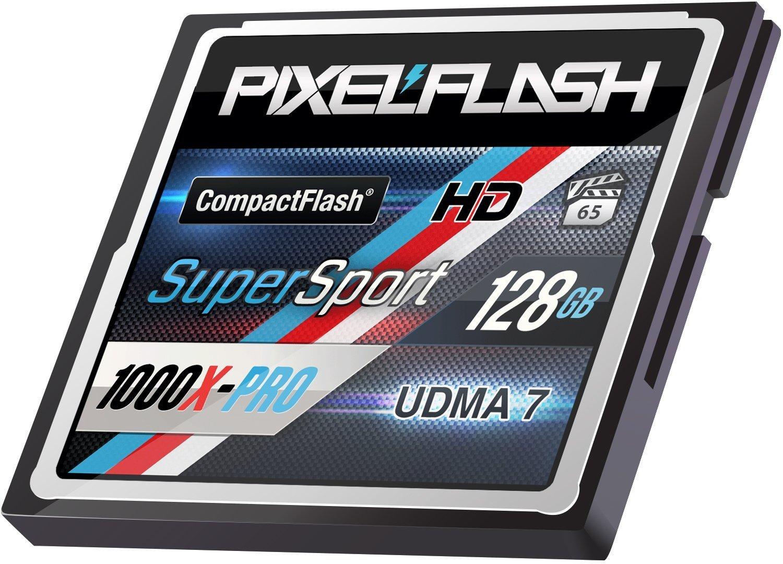 PixelFlash 128 GB 1106x Compact Flash Memory Card VPG-65