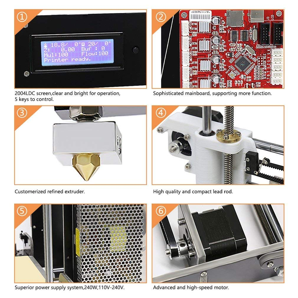 3D Impresora 1.75 Mm Filamento De Escritorio Boquillas De Aire ...